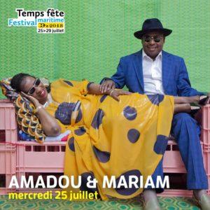 Amadou et Mariam, festival, temps fête 2018, douarnenez, musique